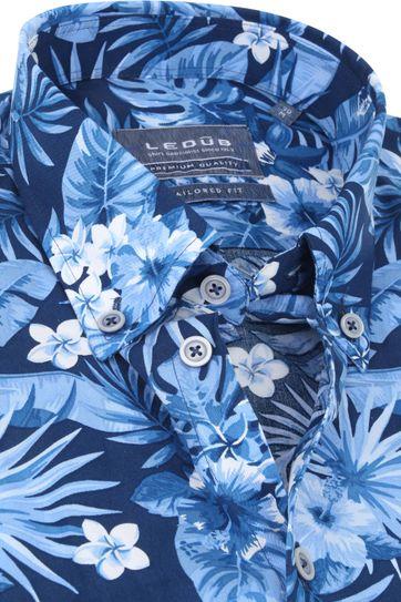 Ledub Overhemd TF Natuur Blauw