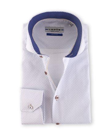 Ledub Overhemd White Print