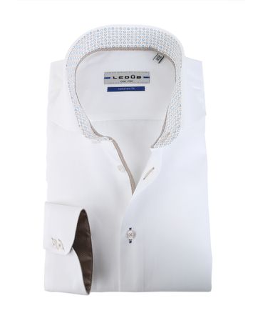 Detail Ledub Overhemd Wit