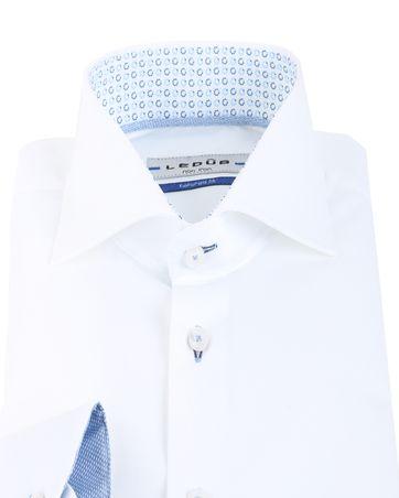 Detail Ledub Overhemd Wit + Blauw