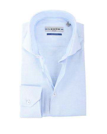 Ledub Overhemd Wit + Blauw Ruit