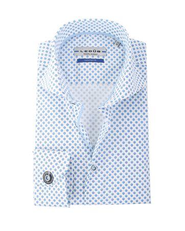 Ledub Overhemd Wit +Blauw SL7