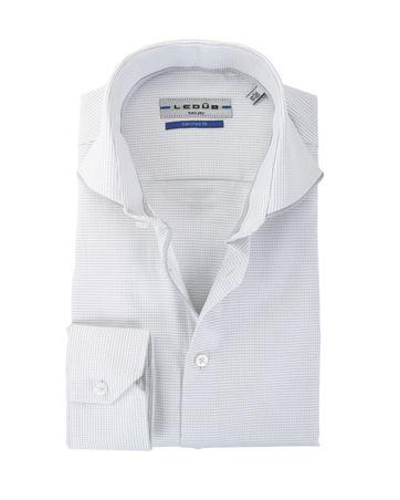 Ledub Overhemd Wit + Grijs Ruit