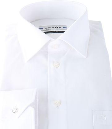Ledub Overhemd Wit Modern Fit