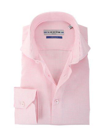 Ledub Overhemd Wit + Roze Ruit