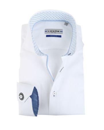 Ledub Overhemd Wit Sleeve 7