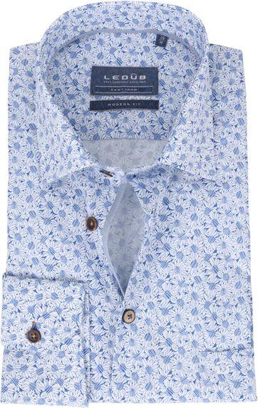 Ledub Overhemd Zonnebloemen Blauw