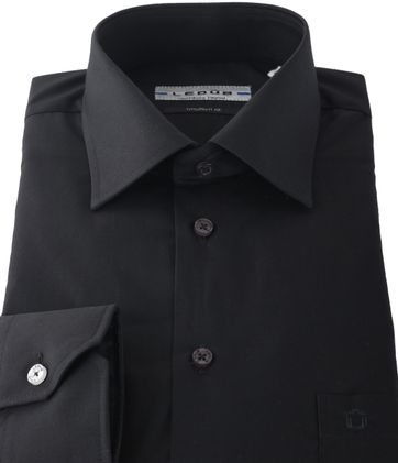 Ledub Shirt Black Modern Fit