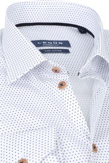 Ledub Shirt Blue White
