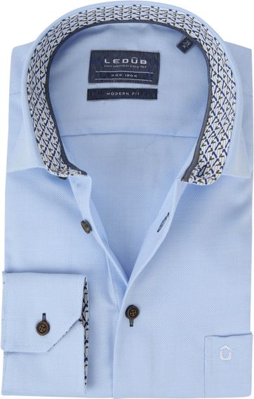 Ledub Shirt MF Dessin Light Blue