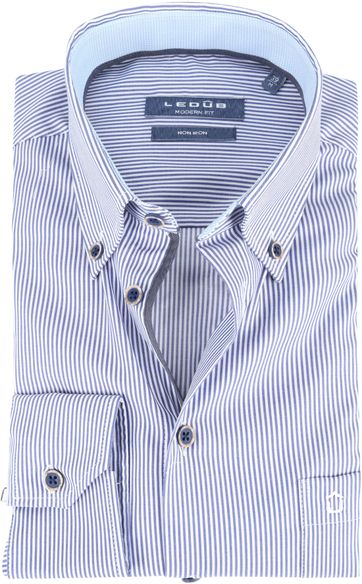 Ledub Shirt MF Stripe Blue