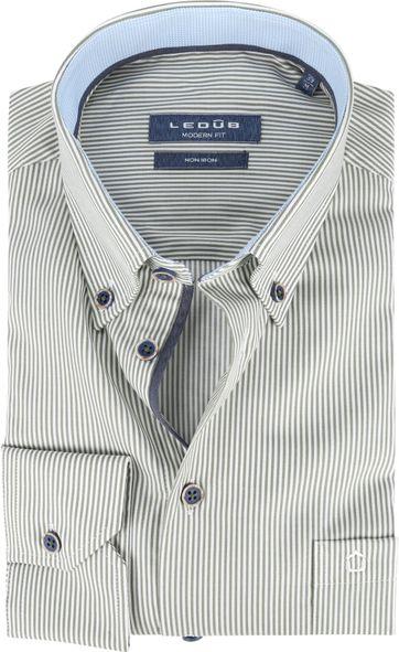 Ledub Shirt MF Striped Green