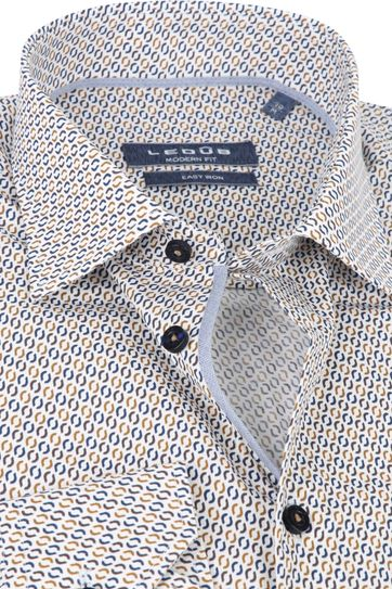 Ledub Shirt Print Brown Pattern