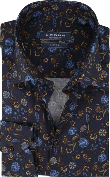 Ledub Shirt Print Flowers Navy