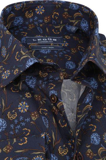 Ledub Shirt Print Flowers Navy