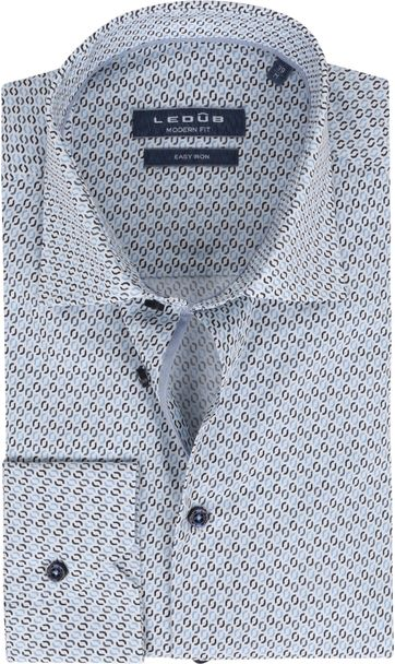 Ledub Shirt Print Lightblue Pattern