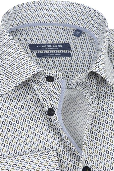Ledub Shirt Print Navy Pattern