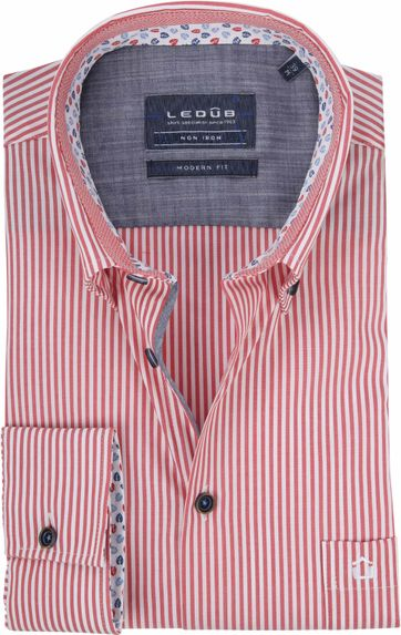 Ledub Shirt Red Stripes