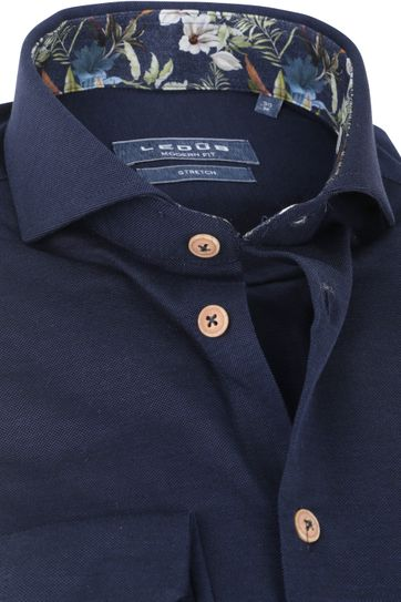 Ledub Shirt Stretch Dark Blue