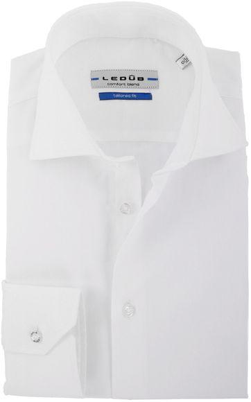 Ledub Shirt Uni White Twill