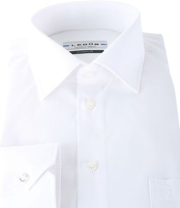 Ledub Shirt White Modern Fit