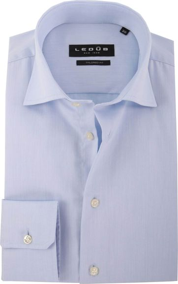 Ledub Strijkvrij Hemd Blauw