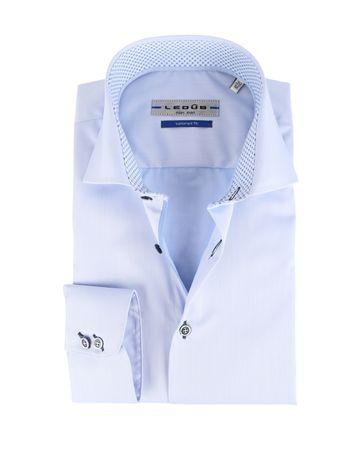 Ledub Strijkvrij Overhemd Cutaway Blauw