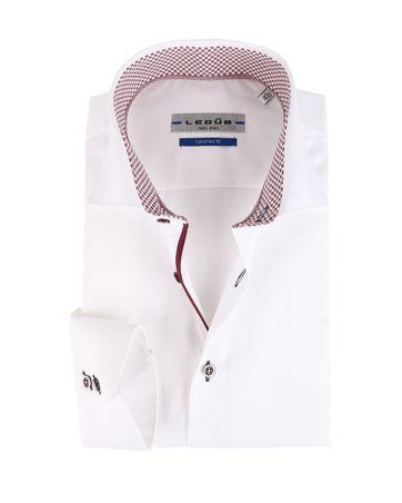 Ledub Strijkvrij Overhemd Cutaway Wit