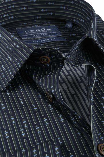 Ledub TF Overhemd Dessin Donkergroen
