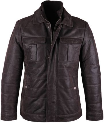 Leren Arma Jas Brantley Destroyed Leather