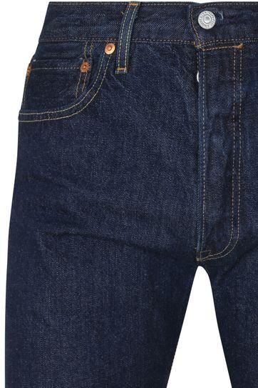 Levi's 501 Broek Regular Fit Donkerblauw