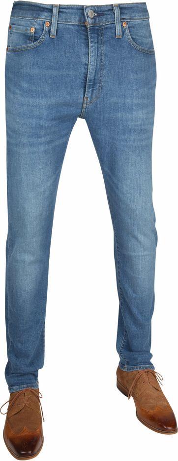 Levi's 502 Jeans Slim Taper Fit 4 Leaf Clover Blau