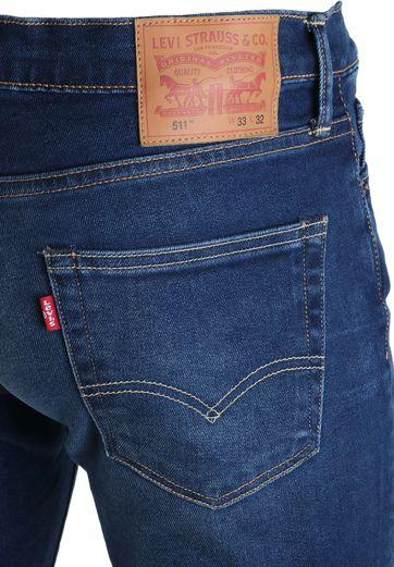 Detail Levi\'s 511 Jeans Slim Fit Midblue