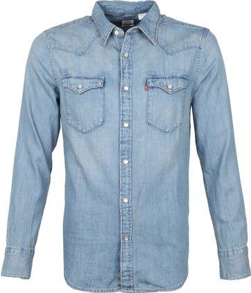 Levi\'s Barstow Hemd Blauw
