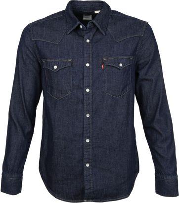 Levi's Barstow Overhemd Donkerblauw