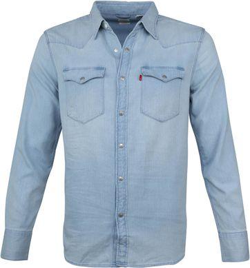 Levi's Barstow Western Blauw Overhemd
