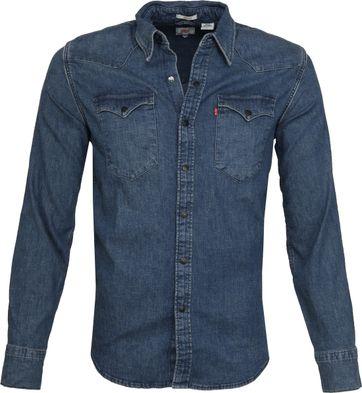 Levi's Barstow Western Overhemd Blauw