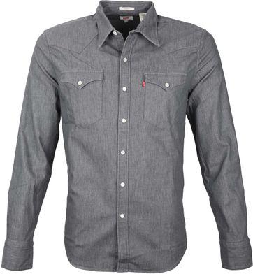 Levi's Barstow Western Shirt Grey