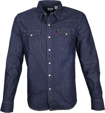 Levi's Barstow Western Shirt Navy