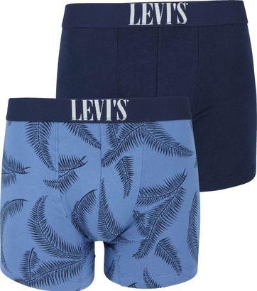 Levi's Boxer Shorts 2-Pack Blue Print