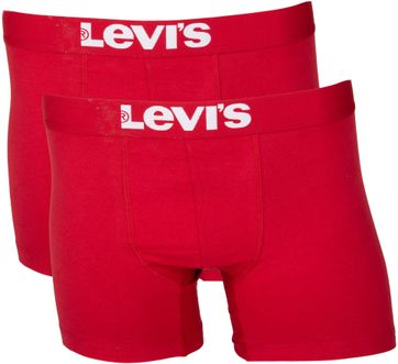 Levi\'s Boxershort 2-Pack Chili Rot