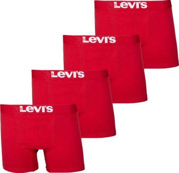 Levi's Boxershort 4er-Pack Chili Rot