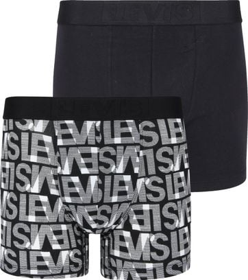 Levi's Boxershorts 2-Pack Black White