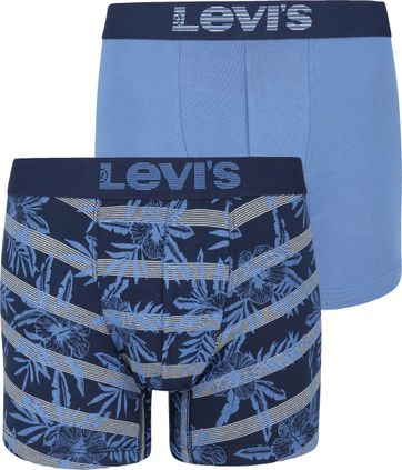 Levi's Boxershorts 2-Pack Blauw Navy