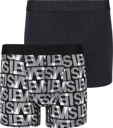 Levi's Boxershorts 2-Pack Zwart Wit