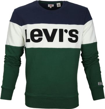 Levi\'s Colorblock Sweater Green