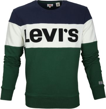 Levi's Colorblock Sweater Green