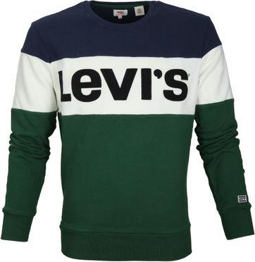 Levi\'s Colorblock Sweater Grün