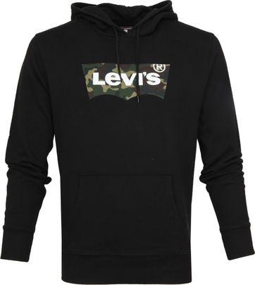 Levi's Hoodie Miniral Zwart