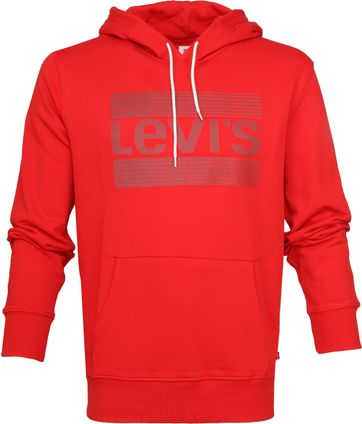 Levi's Hoodie Tech Brill Rood